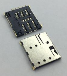 NANO SIM卡座自弹7PIN H1.37 Push Card